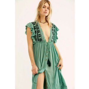 Free People Bali Will Wait For You Midi Dress S US